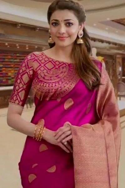 Kajal Agarwal Classy Silk Blouse
