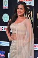 Prajna Actress in bhackless Cream Choli and transparent saree at IIFA Utsavam Awards 2017 010.JPG