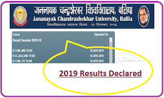 Jananayak Chandrashekhar University Result 2019