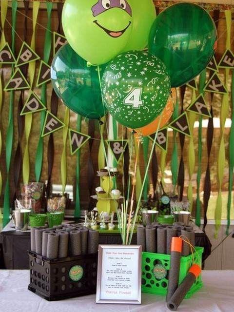 Ideas for Ninja Turtle Birthday Party
