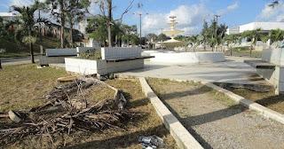 Em Guarabira fonte luminosa deixada pelo governo de fatima Paulino é abandonada na atual gestão