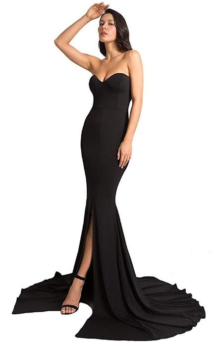 Elegant Strapless Maxi Dresses for Weddings Party