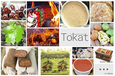 Tokat'ın meşhur şeylerini gösteren resimlerden oluşan kolaj