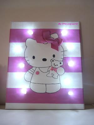 Hello Kitty φωτιζόμενος καμβάς