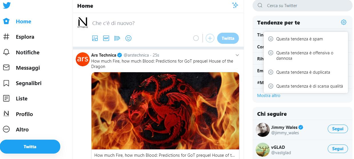 Twitter-filtri-segnalare-tendenze