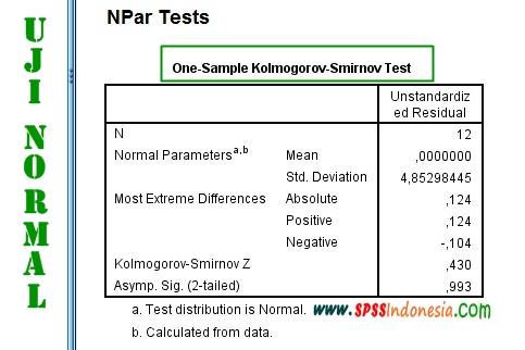 Cara Melakukan Uji Normalitas Kolmogorov-Smirnov dengan SPSS