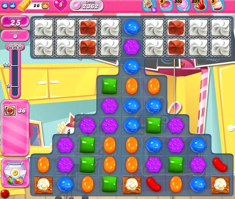 Candy Crush Saga level 2362