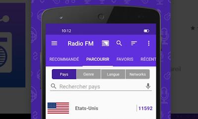 Meilleure application pour écouter la radio FM sans écouteurs sur Android