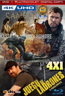 Guerreros Valientes 4X1 COMBO HD DVD LATINO