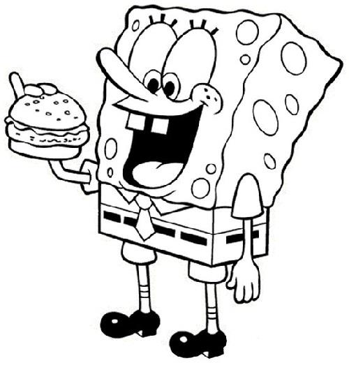 Gambar sketsa spongebob