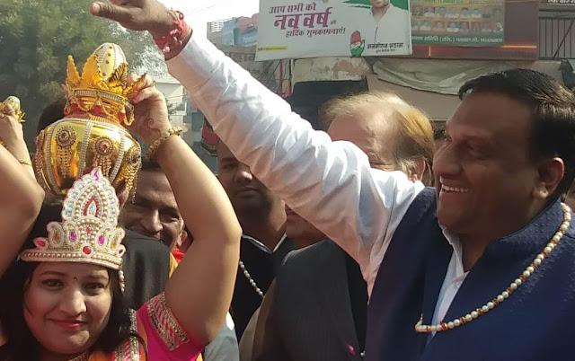 Congratulation of Panch Kalyanak Prestige Festival in Palwal, Shobhayatra Deepak Mangala