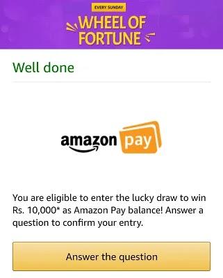 Amazon Quiz Sunday Special Wheel Of Fortune