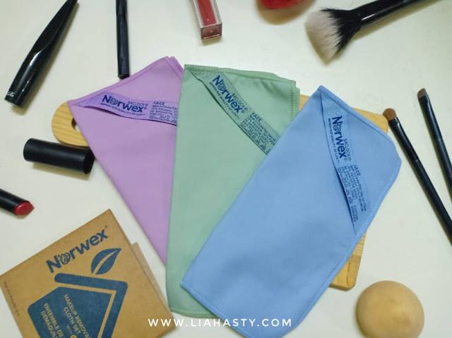Tanggalkan Solekan dengan Norwex Makeup Removal Cloth Set
