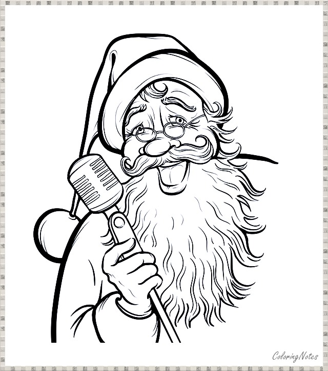 15 Santa Claus Printable Coloring Pages for Christmas ...