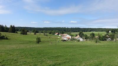 Blick auf La Bosse nahe Le Bémont
