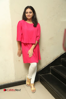 Actress Arundathi Nair Stills in Red Chididar at Bethaludu Success Meet  0149.JPG