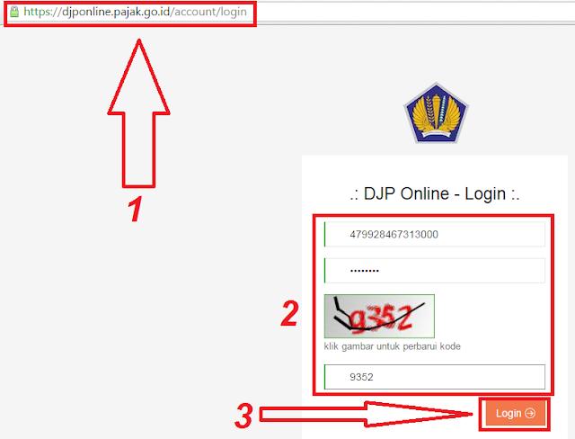 gambar login efiling/djponline