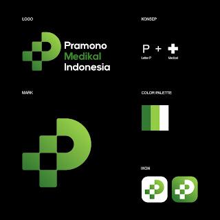 Desain Logo Perusahaan Bidang Kesehatan Pramono Medikal Indonesia