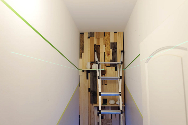mapping paint lines with laser level