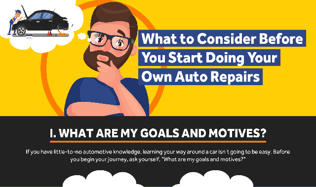 What to Consider Before You Start Doing Your Own Auto Repairs #infographic