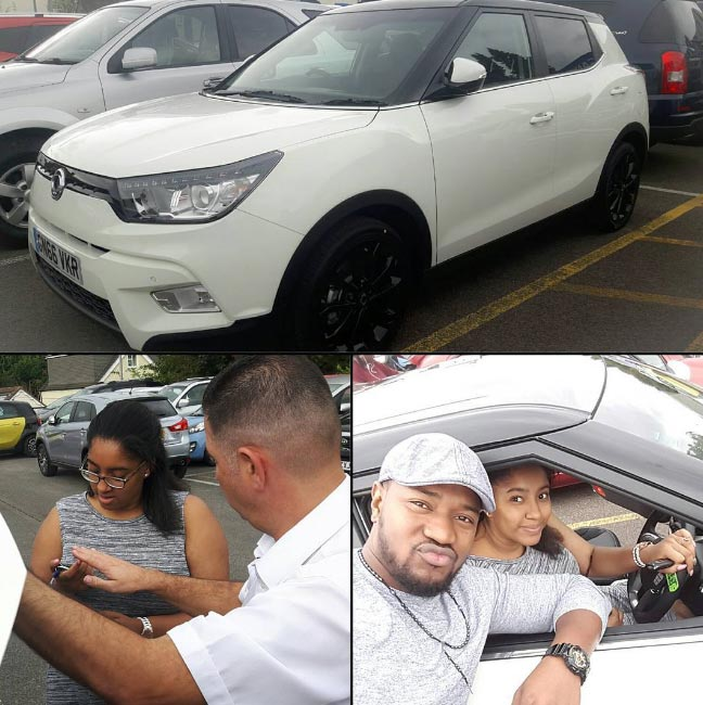 Mofe Duncan buys new ride for wife, Jessica