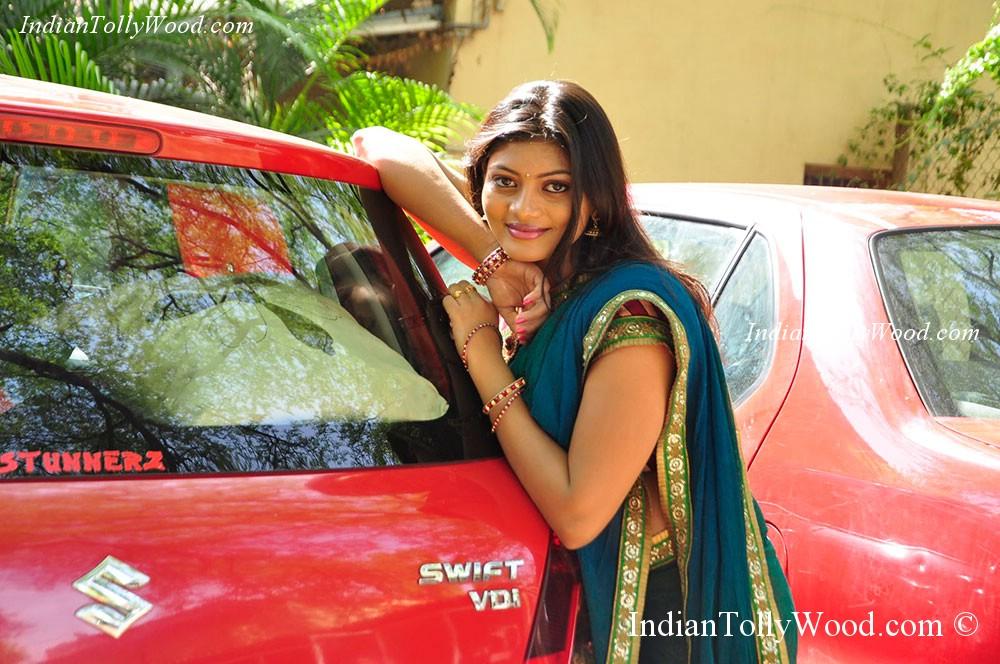 Sowmya Half Saree Photos
