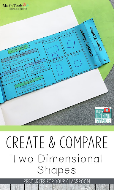 Create and Compare Two Dimensional Shapes - FREE Shape Riddles