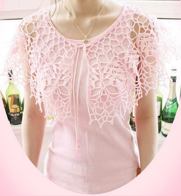 Crochet Lace Capelet / Collar