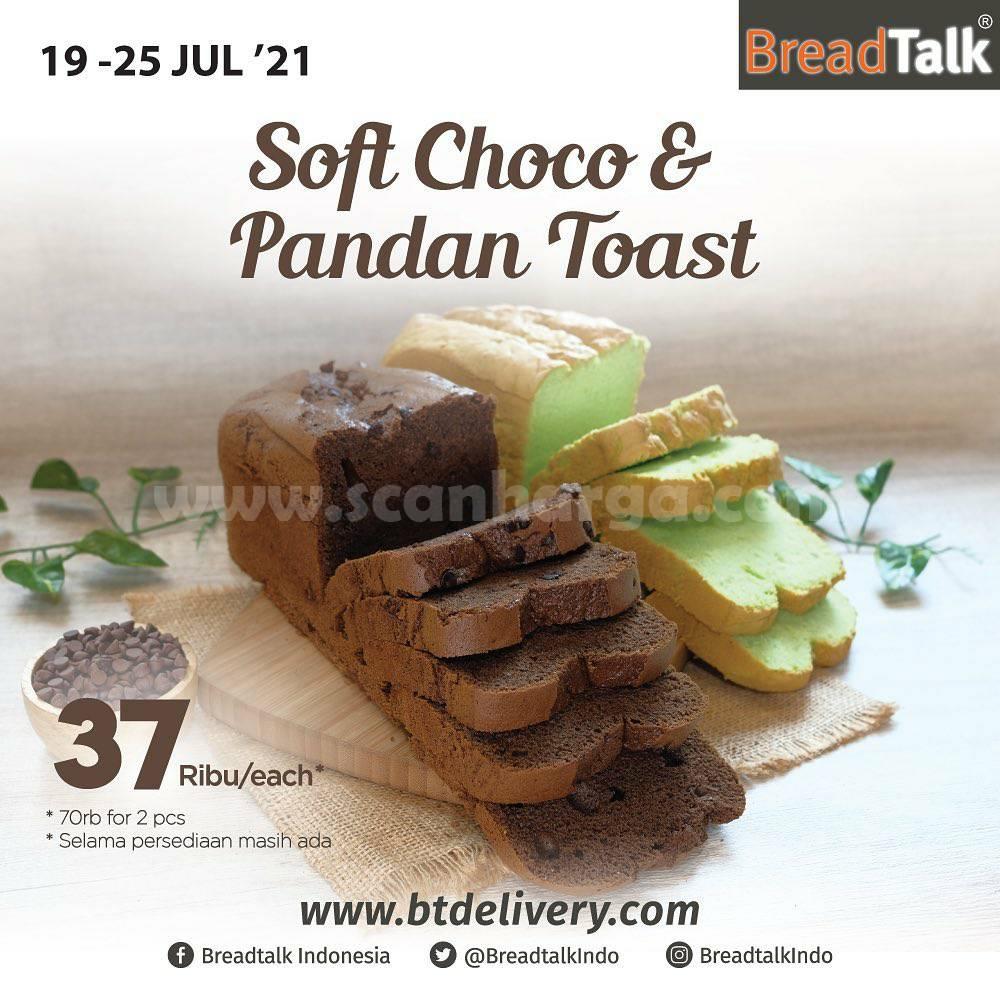 Breadtalk Promo Pandan & Choco Soft Toast