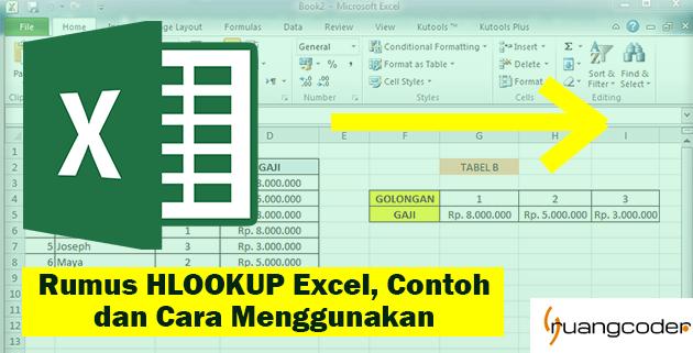 Rumus HLOOKUP Excel, Contoh dan Cara Menggunakan