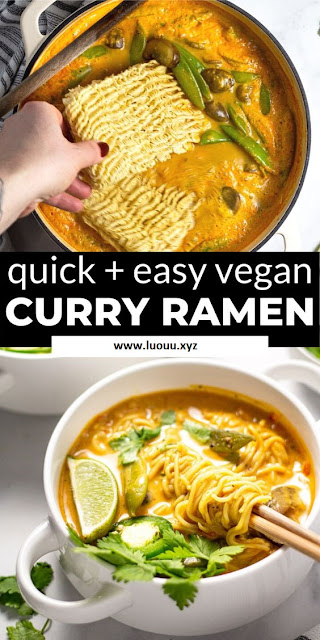 Vegan Curry Ramen Noodles