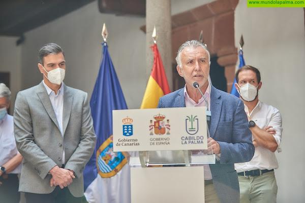 Torres subraya que el Gobierno de Canarias ya ha destinado 40 millones de euros a atender la emergencia por el volcán de La Palma