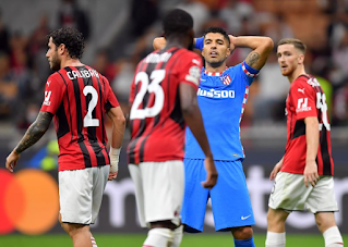 Hasil Liga Champions AC Milan vs Atletico Madrid