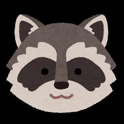 アライグマの顔のイラスト