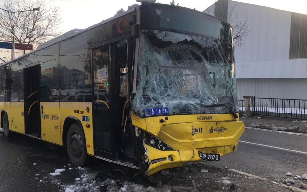 İETT otobüsü ve servis minibüsü çarpıştı: 7 yaralı