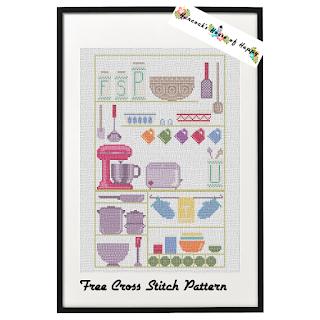It was a modern kitchen cross stitch sampler pattern.