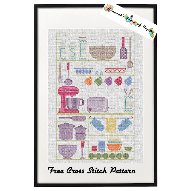 Free Cross Stitch Kitchen Sampler and Mini Kitchen Motifs to Download