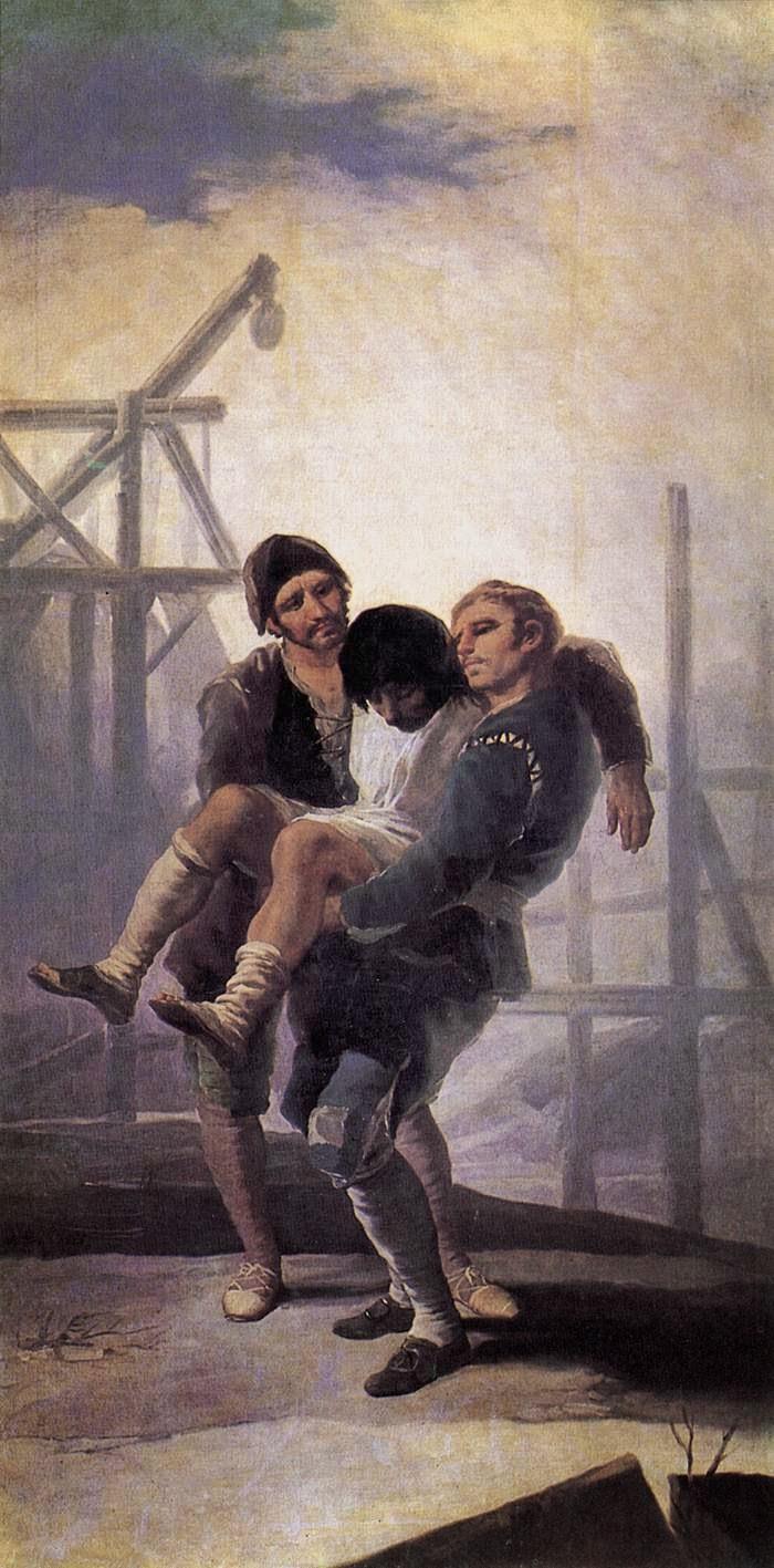 O Pedreiro Ferido - Goya, Francisco e suas pinturas ~ Foi um importante pintor espanhol da fase do Romantismo
