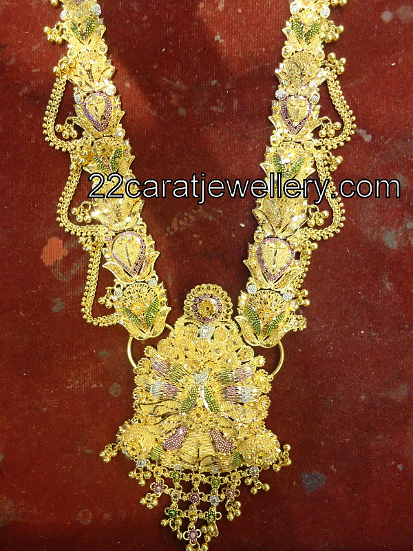 2 In 1 Long Chain Cum Vaddanam Gallery Jewellery Designs