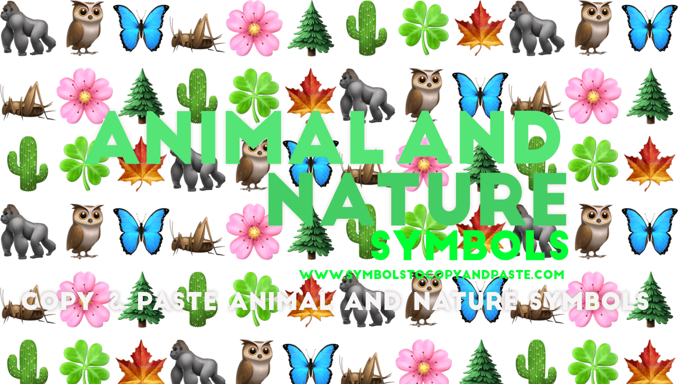 Animal and Nature Symbols - Copy Share Online Animal and Nature Symbols