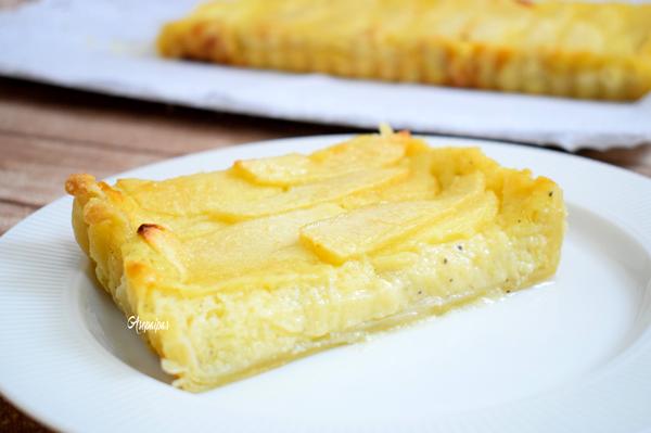 Tarta de Manzana y Crema Pastelera. Vídeo Receta