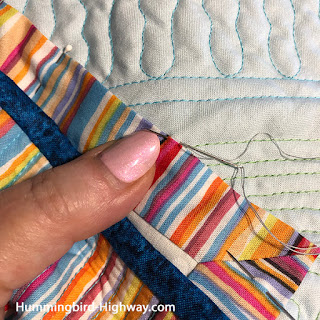 add a label to your quilt