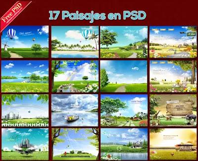 17 Fondos de paisajes para fotos en PSD