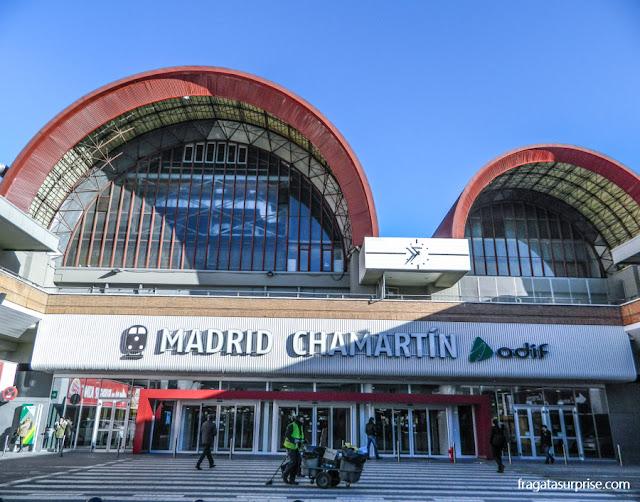 Estação de trens Chamartín, em Madri, local de partida dos trens para Segóvia