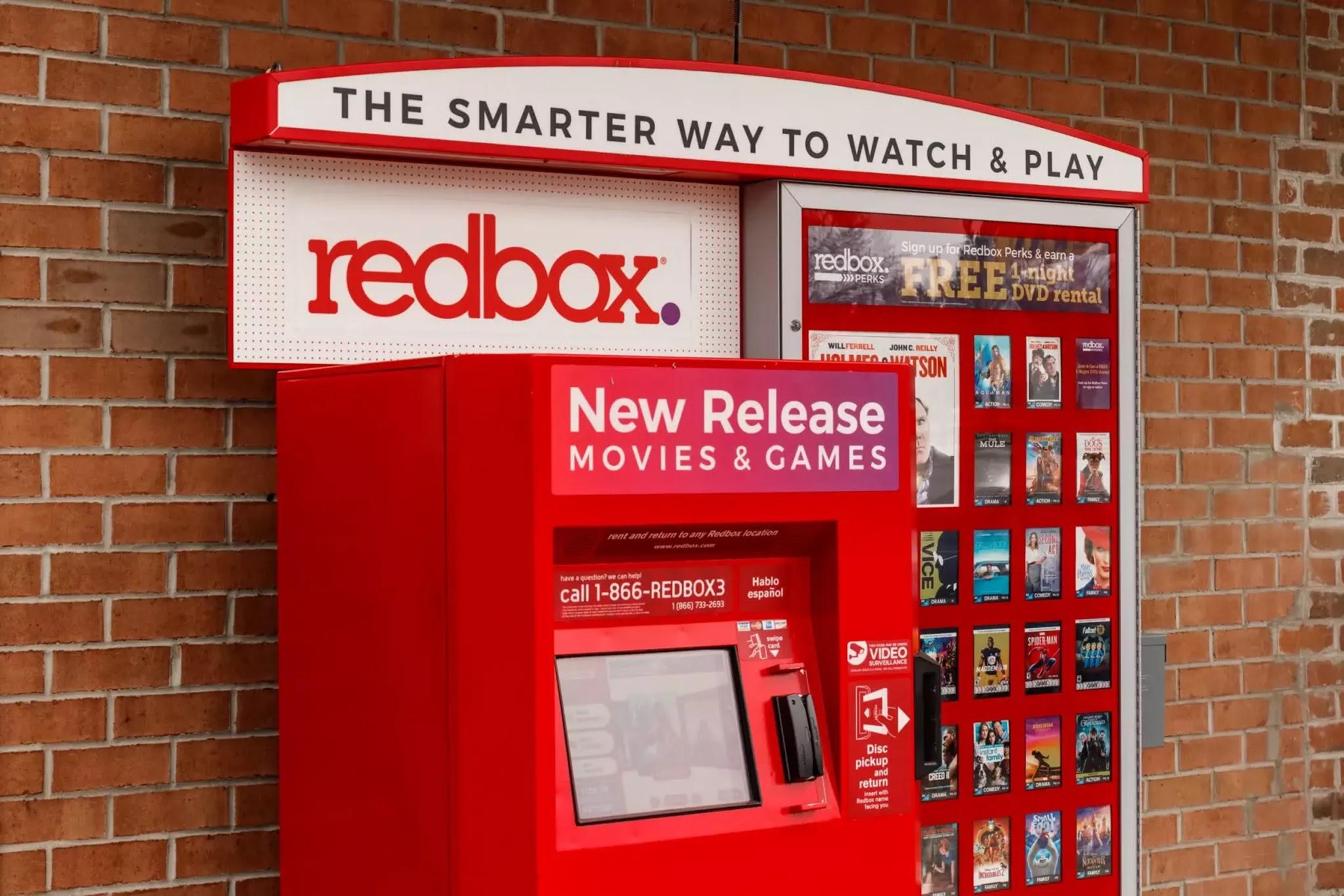 Các ki-ốt Redbox được hình thành bởi McDonald's.