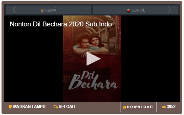 Nonton Film Dil Bechara (2020) Sub Indo Full Movie Terbaru 2021