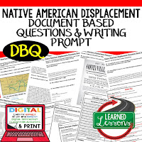 Native American Displacement, Western Expansion DBQ, Early American History DBQ, DBQ Document Based Question Writing Activity, American History Activities