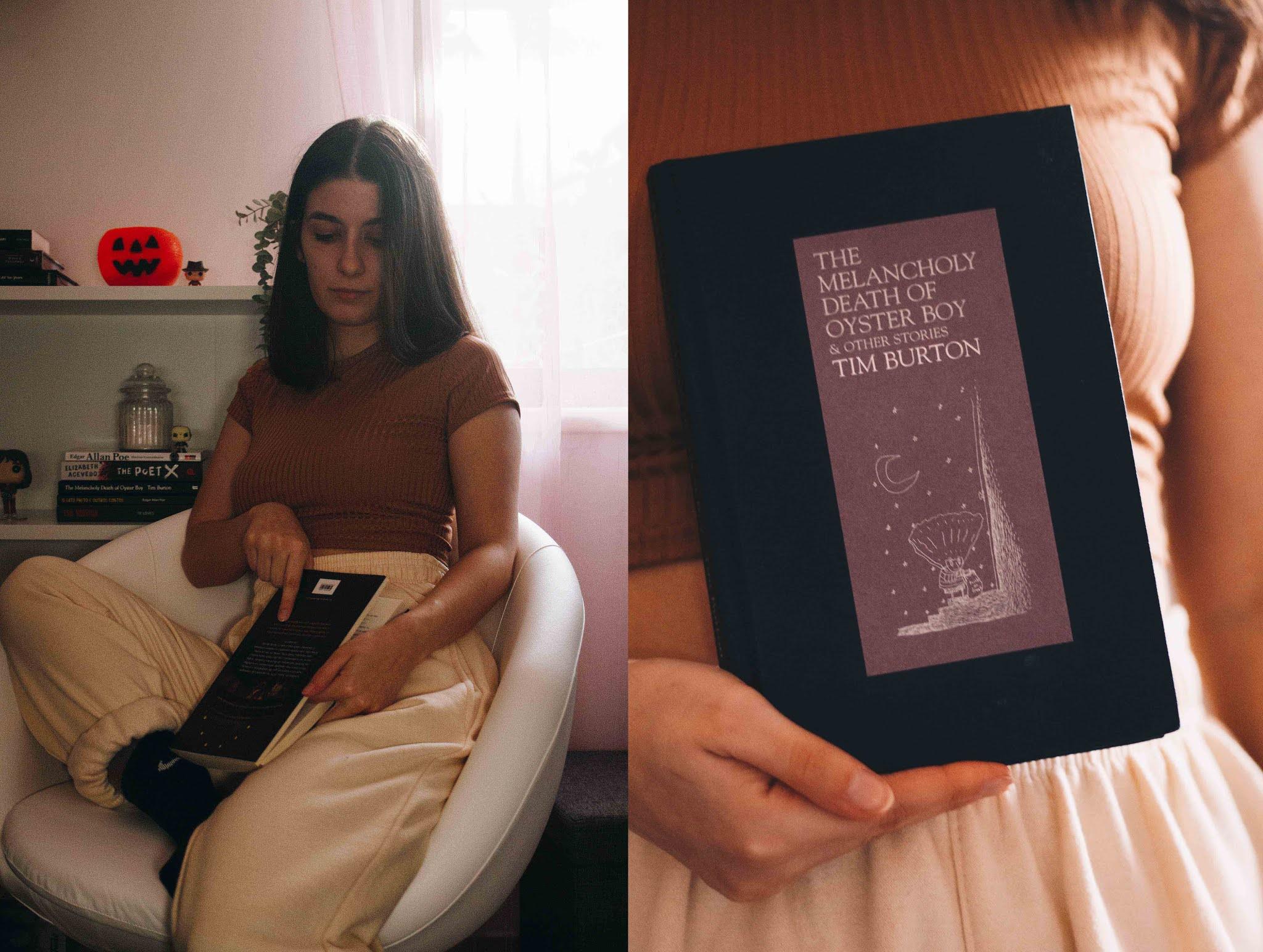 """Livros em segunda mão em inglês  Este mês fiz uma excelente descoberta relacionada com livros em segunda mão (btw, talvez seja interessante fazer um post só sobre o assunto? Onde compro em segunda mão, etc). Conheci a AwesomeBooks, uma loja do UK com global shipping (apenas £2,99) que vende milhões e milhões de livros previamente usados a preços INCRÍVEIS. """"The Melancholy Death of Oyster Boy"""" é o exemplo perfeito — tem capa dura, aparenta estar novo, e custou apenas 2,25 €."""
