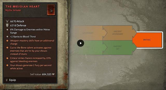 """Exemplo de um item """"mítico"""" (Foto: Reprodução/Blizzard)"""