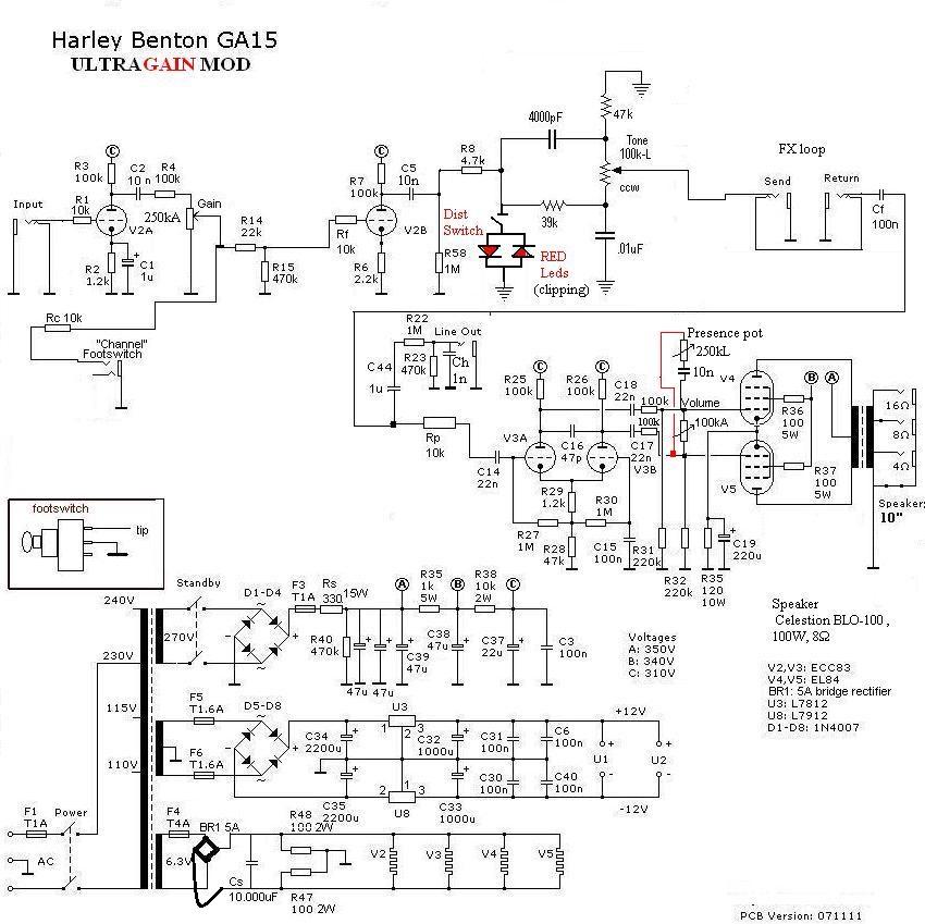 harley benton ga 15 ultra mod guitar dreamer. Black Bedroom Furniture Sets. Home Design Ideas